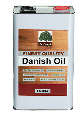 £67 • Buy Danish Oil, Bestwood, 10 LITRES (2X5 Litre Cans), 50% Tung Oil Express Delivery