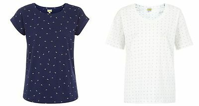 Hobbs Short Sleeved Tee Shirt Anchor Or Butterfly Or Green Vest Xs-s-m-l-xl • 8.99£