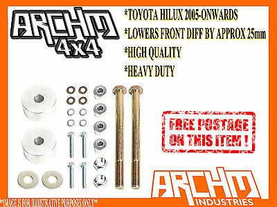 AU199 • Buy Diff Drop Kit For Toyota Hilux Coil/leaf Kun26r / N70 2005-onwards