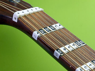 £4.95 • Buy Learn Guitar Scales FRETBOARD NOTE STICKERS Fret Labels Decal + Online Lessons