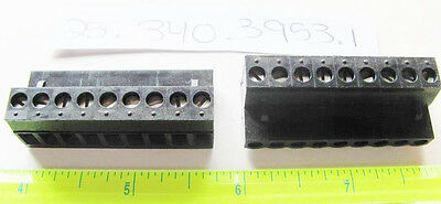 $3.65 • Buy Wieland 25.340.3953.1 PCB Female Connector 5.08mm, 9 Position, Pluggable, Black