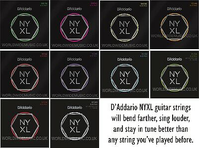 AU28.26 • Buy D'Addario NYXL Nickel Wound Electric Guitar Strings With A Choice Of 15 Gauges
