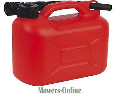 £11 • Buy Red Plastic Fuel Can 5L Strimmer Chainsaw Brushcutter Hedgetrimmer Lawnmower