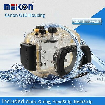 AU181.83 • Buy 40M 130ft Underwater Waterproof Diving Housing Case For Canon G16 Camera