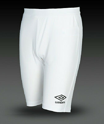 Boys Umbro Base Layer Compression Shorts White Under Thermal Sports Body Armour • 2.99£