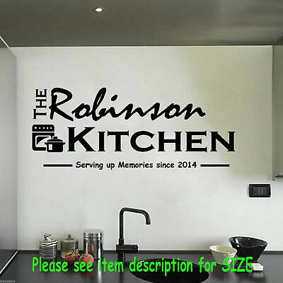 £17.50 • Buy Family Personalised Name Sticker, Kitchen Wall Sticker, Restaurant Wall Sticker