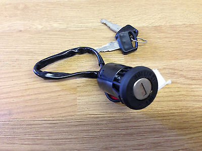 Universal Ignition Barrel  Switch 2 Wire Type On Off 2 Keys Car Trike Motorcycle • 9.99£