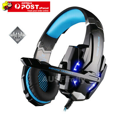 AU37.95 • Buy 3.5mm Gaming Headset MIC LED Headphones For PC Laptop PS4 Slim Pro Xbox One 360