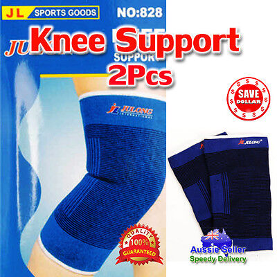 AU5.30 • Buy 1 Pair Elastic Stretch Knee Protection Brace Guard Wrap Pain Support Sports Gym