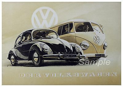 VW VOLKSWAGEN PRINT ART POSTER PICTURE A3 SIZE GZ1883