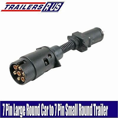 AU16.95 • Buy 7 Pin Large Round To 7 Pin Small Round Trailer Connector Adaptor Plug