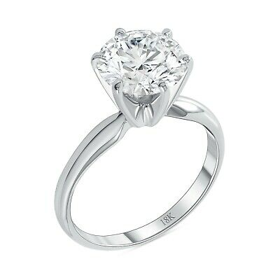 $469.98 • Buy 4 Ct Round Cut Solitaire Engagement Wedding Promise Ring Solid 18K White Gold