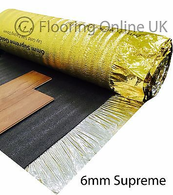 60m2 - 6mm Thick Supreme Sonic Gold - Acoustic Underlay - Wood Or Laminate • 119.99£