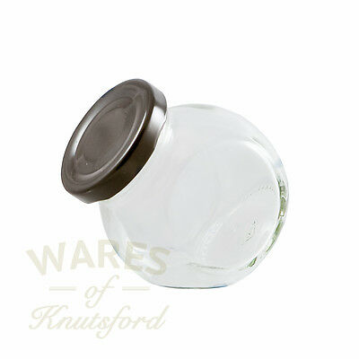 Small Glass Sweet Jars, 130ml, Packs 12 - 192, With Lids, Wedding Favours, New * • 8.85£