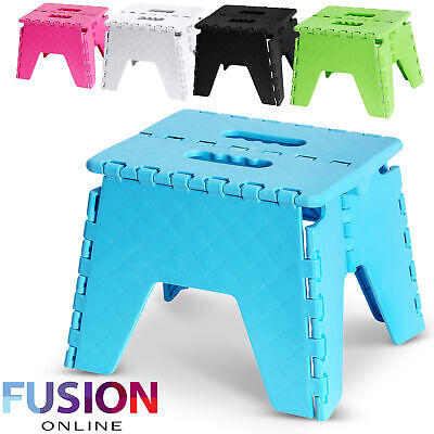 View Details Foldable Step Stool Folding Sturdy Home Kitchen Garage Carry Multi Purpose Stool • 5.49£