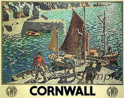 £2.98 • Buy Vintage 1936 Cornwall Gwr Travel A4 Poster Print