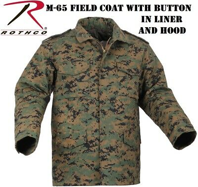 $96.99 • Buy Woodland Digital Camo Military Style M-65 Field Jacket Button Liner Rothco 8590