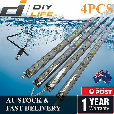 AU22.99 • Buy 4X12V Waterproof Cool White 5630 Led Strip Lights Bars Camping Caravan Boat Car