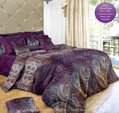AU49.99 • Buy ASTER Duvet/Doona/Quilt Cover Set Double/Queen/King/Super King Size Bed New