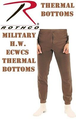 $20.99 • Buy Brown Military ECWCS Cold Weather Thermal Underwear Bottoms H.W. Rothco 6248