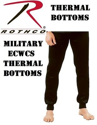 $24.99 • Buy Black Military ECWCS Cold Weather Thermal Underwear Bottoms H.W. Rothco 6245