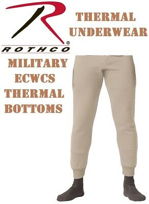 $20.99 • Buy Desert Military ECWCS Cold Weather Thermal Underwear Bottoms H.W. Rothco 5225