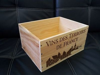 £13.95 • Buy A French Wooden Wine Crate Box  Planter Hamper / Drawers / Storage <3