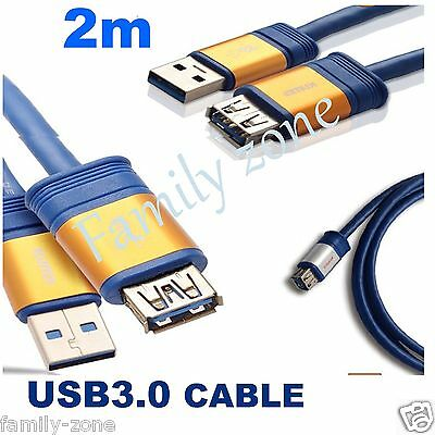AU9.87 • Buy USB 3.0 Extension Cable 2m Super Speed Extension Cable A Male To A Female