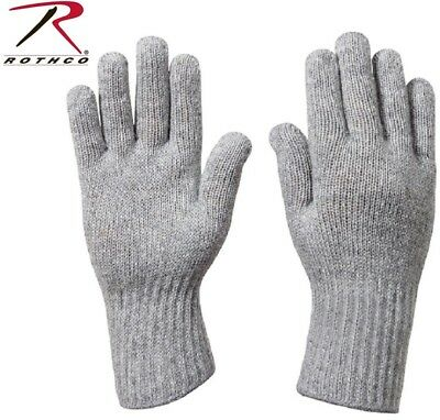 $8.98 • Buy Grey D-3A Military Wool Nylon Blend Glove Liners - Made In The USA Rothco 8418