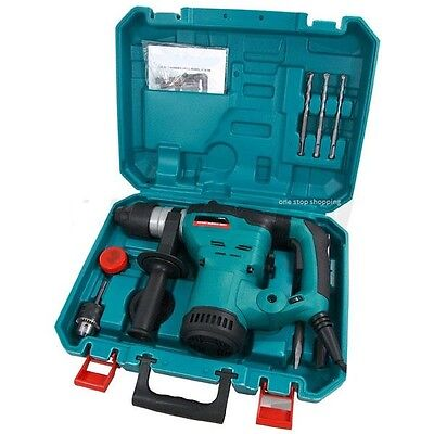 View Details HEAVY DUTY 1500W ROTARY SDS HAMMER DRILL 110V & CHISELS IN CASE 3 YEAR WARRANTY • 61.95£