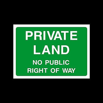 Private Land No Right Of Way Sign, Sticker - All Sizes & Materials - (CA51) • 0.99£