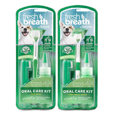 TropiClean Fresh Breath Dog Oral Care Kit Remove Tooth Plaque & Attack Tartar • 8.57£