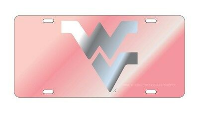 $ CDN30.17 • Buy WVU WEST VIRGINIA Mountaineers Pink Mirrored License Plate / Car Tag