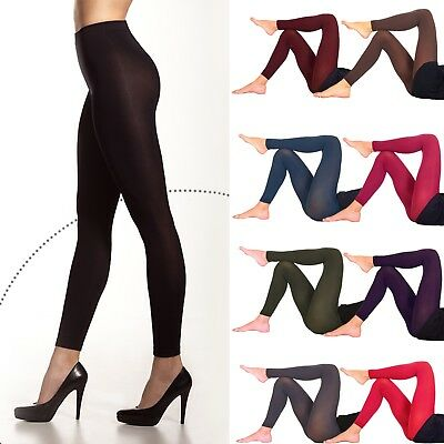 £4.50 • Buy Women's Opaque Soft Microfiber FOOTLESS Tights 60 Denier Full Length Size S-XL