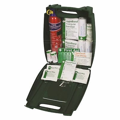 £57.49 • Buy Travel First Aid Kit 55 Piece & Fire Extinguisher For Car Van Truck Taxi 1 Kit