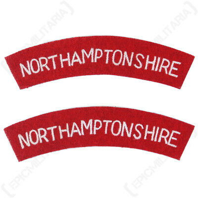 £8.75 • Buy Northamptonshire Regiment Shoulder Titles - WW2 Repro Patch Badge Army Flash New
