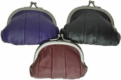 $7.79 • Buy Genuine Leather Change Purse Coin Bag Ladies Wallet Purse Mini Framed Coin Case