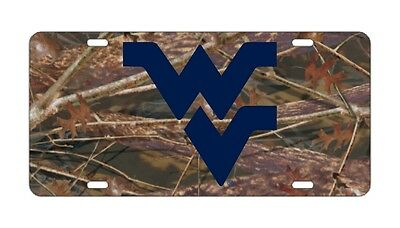 $ CDN30.17 • Buy WVU WEST VIRGINIA Mountaineers Mirrored Camo License Plates / Car Tag