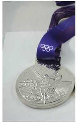 £18.07 • Buy London 2012 Olympic 'Silver' Medal  + Ribbon & Display Stand ...