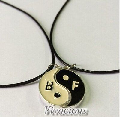 AU9.95 • Buy Yin Yang Ying Two Parts Magnetic Best Friend Friendship Couple Necklace Set BFF