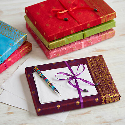 £4.95 • Buy Sari Stationery Writing Set, 6 Colours, 20 Sheets And 10 Envelopes - 2nd Quality