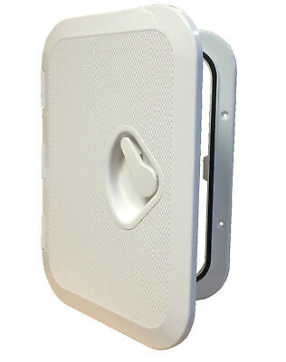 £20.99 • Buy MARINE ACCESS BOAT DECK INSPECTION HATCH  270mm X 375mm WHITE Motorhome Yacht
