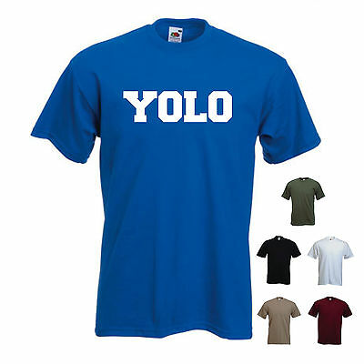 'YOLO' (you Only Live Once) Funny Mens T-shirt  • 11.69£