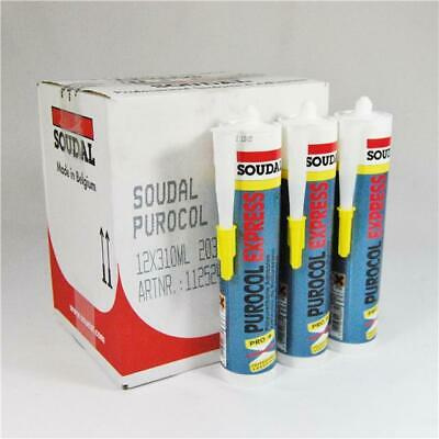 Soudal Purocol Express | PU Fast Setting D4 Waterproof Wood Glue Timber Adhesive • 15.30£