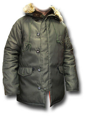 $ CDN170.65 • Buy SILVERMANS N3B EXTREME COLD WEATHER PARKA WITH HOOD, GREEN Or BLACK [72572]