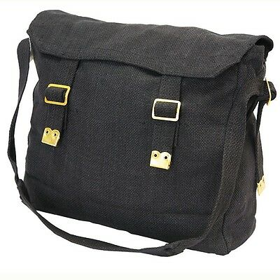 AU13 • Buy New Heavy Duty Canvas Messenger Black Shoulder Bag Cross Body Carry Travel Tote