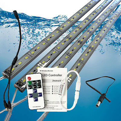 AU23.99 • Buy 4X12V Waterproof Cool White 5630 Led Strip Lights Bars Camping Boat Car + Remote
