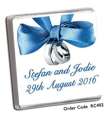 £8.99 • Buy 50 Personalised Chocolate Wedding Favours :-)  400+ DESIGNS FOR 2020 & FREE P+P!