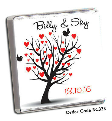 £11.99 • Buy 50 Personalised Chocolate Wedding Favours/ AMAZING DESIGNS WITH FREE P+P