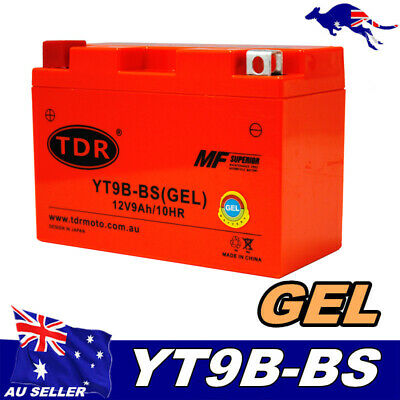 AU49.95 • Buy GEL 12V 9Ah  Battery Yamaha Scooter YP400 Majesty ATV YFM70R YZF-R6/R7 YT9B-BS